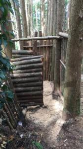森のトイレ~入口